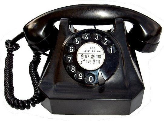 Téléphone de maison ancien modèle
